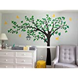 "PopDecors - Big tree with love birds (100"" W) - Custom Beautiful Tree Wall Decals for Kids Rooms Teen Girls Boys Wallpaper Murals Sticker Wall Stickers Nursery Decor Nursery Decals"