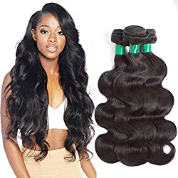 Pecwu Hair 10A Brazilian Virgin Hair Body Wave 4 Bundles Deal 100% Unprocessed Brazilian Human Hair Weave Weft Natural Color Brazilian Remy Human Hair Extensions Weaving (20 22 24 26)