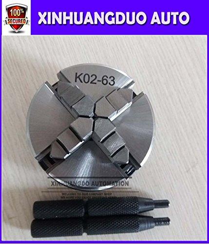 K02-63 K02 63mm 4 Jaw Mini Lathe Chuck Manual Self-Centering Lathe Chuck M14 for CNC Buddha Beads Machine 4 Jaw Scroll Chuck