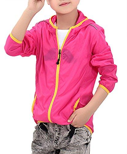 Alafen Unisex Child Kids Quick Dry Lightweight UV-Resistant Windbreaker Jacket