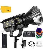 Godox VL300 LED-licht, 300w 5600K daglicht, CRI 96+, TLCI 95 lichtgewicht met controller en BD-04, mobiele APP-ondersteuning voor pasgeboren fotografie, stillevenfotografie, portret, studioverlichting, interviewverlichting, videofilms (VL300)