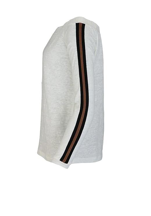 9423d80f35 Marc Aurel Langarm Shirt Off-Shoulder Zierstreifen Oversize Ecru Größe 34:  Amazon.de: Bekleidung