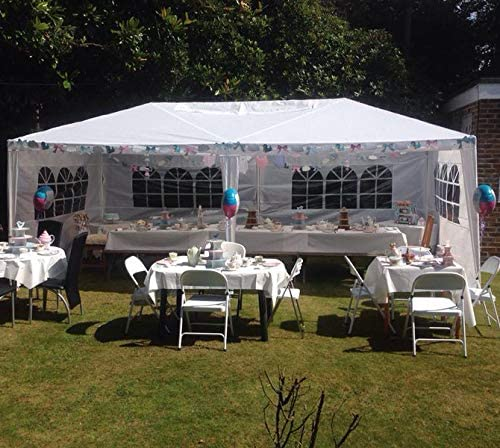 10 x20 Heavy Duty Canopy Gazebo Outdoor Party Wedding Tent Pavilion w 6 Removable Side Walls