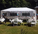 10'x20' Heavy Duty Canopy Gazebo Outdoor Party Wedding Tent Pavilion w/ 6 Removable Side Walls