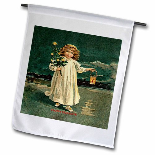 "3dRose fl_172784_2 ""Little Girl with Small Tree Decoratio..."