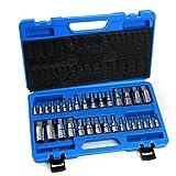 32 Pcs Allen Wrench Bit Ratchet Socket Tool Metric Set Master Kit Hex Key