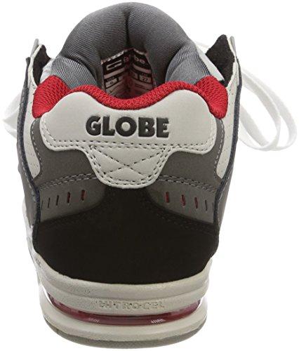 0 Hombre Grey Gris Silver de Skateboard Charcoal Globe Sabre Zapatillas af6qnz1