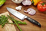"COZILIFE Chef Knife - Eagle Series, 8"" Professional Kitchen Chefs Knife, Mirror Poilished, High-Carbon Forged Blade, Full Tang, German Steel, Pakka Wood Handle."