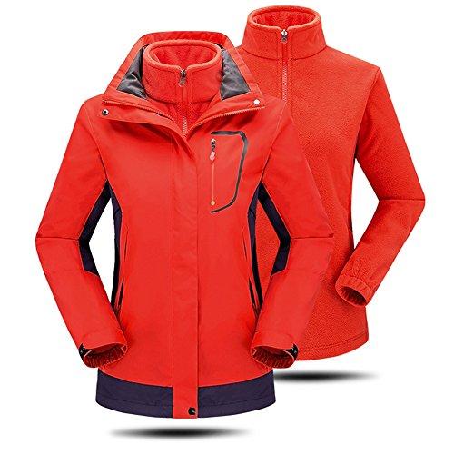 Escursioni Esterno Elear Coat Warm Impermeabile Piedi Cappuccio Fleece Con uomini Bicicletta In Donne Jacket Reg; Windbreaker Escursionismo 3 Donne Rivestimento Sportswear 1 Arancione axPaSpwq