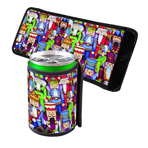 Beer Collage (Nutcracker Collage - Insulated Neoprene Beverage Can Beer Bottle Drink Cooler Sleeve)