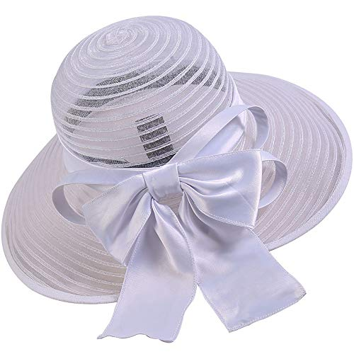 NCXHB Straw Hat Women Summer Sun Hat Flat Large Wide Brim Gauze Cap Beach Travel for Hiking, Camping Suitable for Summer Beach (Color : White, Size : Free ()