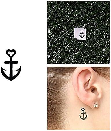 Tatuaje Temporal Tattify - Ancla pequeña - Horizonte (Juego de 2 ...