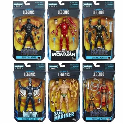 Black Panther Marvel Legends 6-Inch Action Figures Wave 1 Set (1 6 Action Figures)
