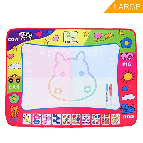 Discount Aqua Doodle Pad Water Drawing Mat Large Board Magic Pen AquaDoodle 4 Color Develop Intelligence Sketch Learning Kids Children Toy Gift UD0ozS2l