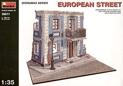 MiniArt 1:35 Scale European Street Diorama Plastic Model Kit