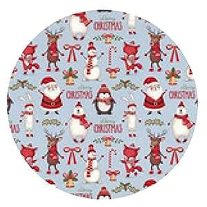 alfombrilla de ratón ilustraciones de la acuarela de la Navidad. patrón sin fisuras - ronda - 20cm