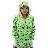 XCOSER Teenager Question Mark Pullover Hoodie Sweatshirt Costume M