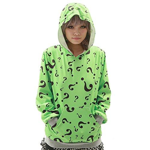 Xcoser Teenager Question Mark Pullover Hoodie Sweatshirt Costume L