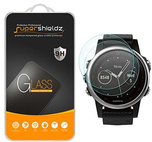 (2 Pack) Supershieldz for Garmin Fenix 5S Tempered Glass Screen Protector, Anti Scratch, Bubble Free