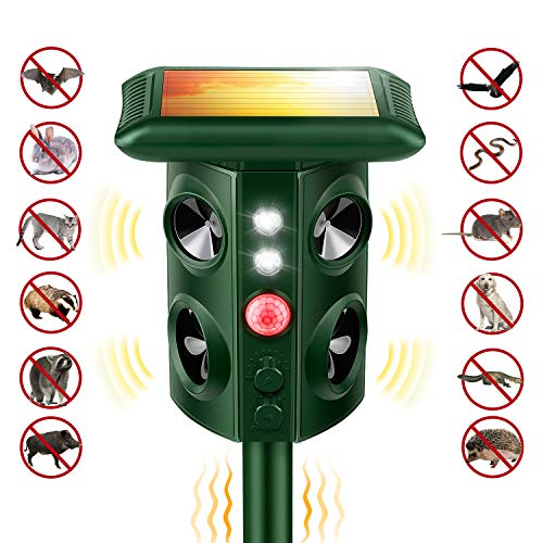 Haibinsh Solar Mole Snake Repeller, [New 2019 Upgraded] Ultrasonic Animal Repellent Vibrating Rodent Repellent Sonic Wave Pest Repeller Gopher Repeller Vole Chaser Pest Deterrent