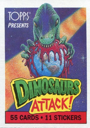 Dinosaurs Attack Trading Card Set 55 Cards and 11 Stickers (1988)