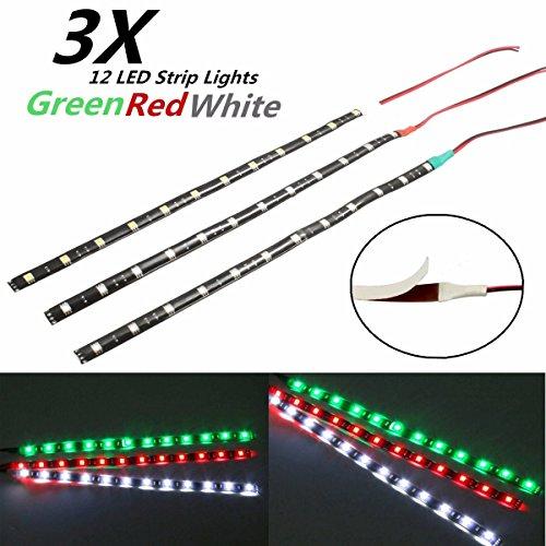 AUDEW 3x 12V 12LED Van Boot Streifen Licht Wasserdicht Streifen Lampe LED Strips
