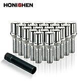 Honishen Spline Wheel Bolt with Key/Chrome/20+1 Pack (12x1.5)