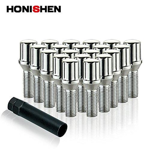 Honishen Spline Wheel Bolt with Key/Chrome/20+1 Pack (14x1.5) by HONISHEN