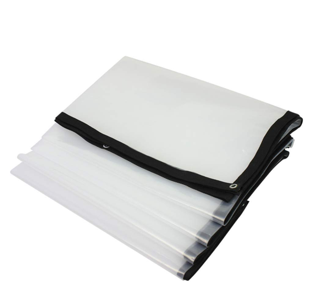 A 4x8M A 4x8M LQQFF Transparent tarpaulin Thick tarpaulin waterproof, white transparent plastic film, greenhouse insulated tarpaulin Dust and rain cover (color   A, Size   4x8M)