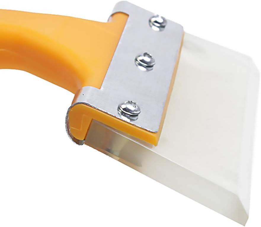 Voiture Brosse /à neige Grattoir Poign/ée longue boeuf Tendon Raclette Scraper Outils voiture Pelle /à neige suppression outil de nettoyage 2pcs jaune