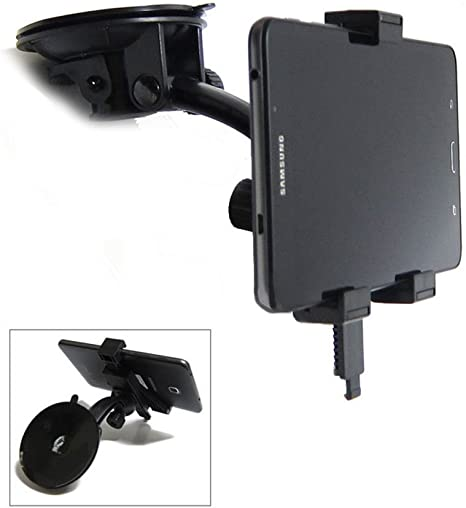 """Car Windshield Suction Mount Holder For 8/"""" Samsung Galaxy Tab A SM-T350 Tablet"""