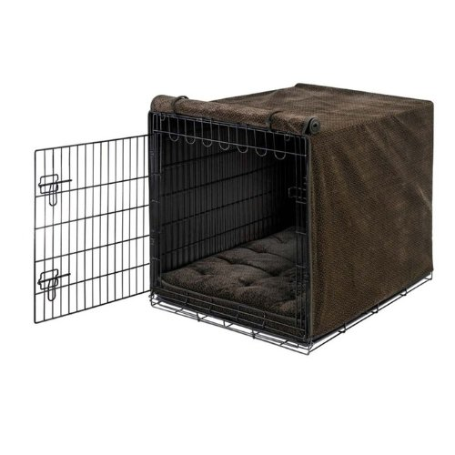 Bowsers Lux Crate Cover Chocolate Bones Small