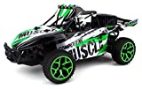 Competition Muscle Remote Control RC Truggy Truck Buggy 1:18 Scale 4 Wheel Drive 4WD Rechargeable w Working Front Suspension (Colors May Vary)