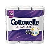 #4: Cottonelle Ultra ComfortCare Double Roll Toilet Paper, Bath Tissue, 18 Rolls