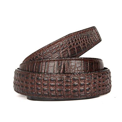 Men's Alligator Head Belt Crocodile Leather Embossed Strap Genuine Leather Belt