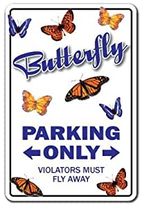Quote Sign de aluminio mariposa mariposas aparcamiento amante regalo regalo de insectos monarca Metal Sign para pared decoración