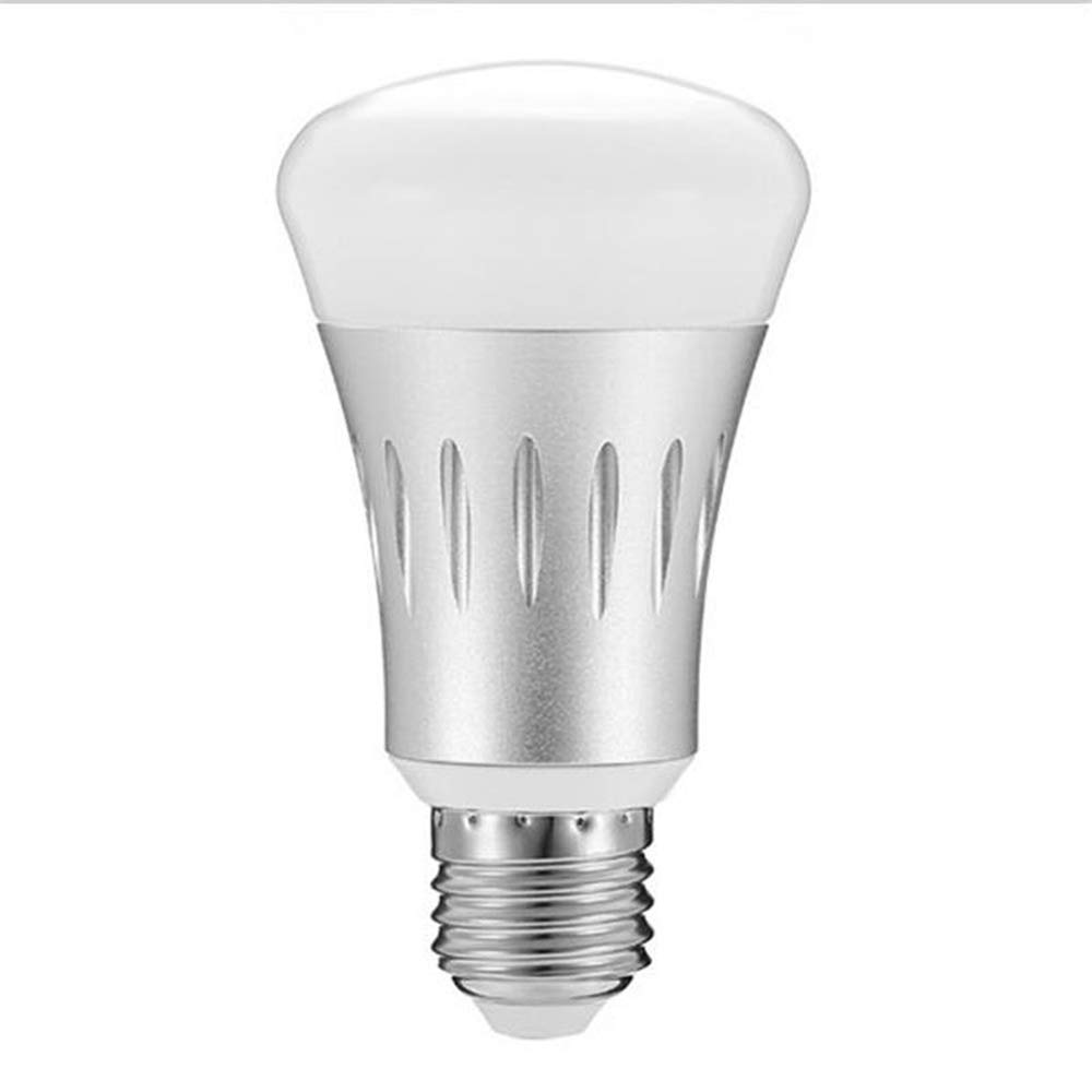Smart LED Bulb E27 WiFi Multicolor Light Bulb Compatible with Alexa/Echo/Google Home and IFTTT (No Hub Required) Multicolor Remote Control Tone Color RGBW.