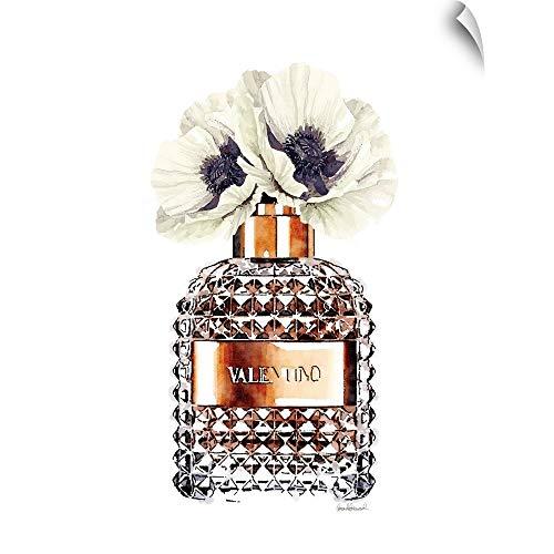 CANVAS ON DEMAND Bronze Perfume with Poppy Wall Peel Art Print, 27