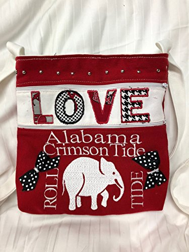 Love Alabama Shoulder Strap Purse Cross Body (Tide Personalized Football)