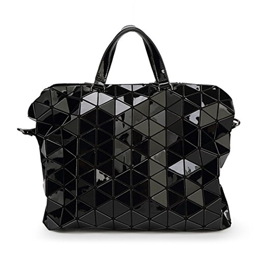Bolso de hombro de las mujeres Geometry Lentejuelas Bolsos plegablesMessenger Bolso Bolso multifuncional Black Black