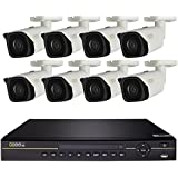 Q-See 8-Ch 4K IP PoE NVR, 4-4K PoE IP67 Rating Bullet Cameras, 2-4K IP IP67 Rating Dome Cameras, No Hard Drive Included (DA8-6HC)