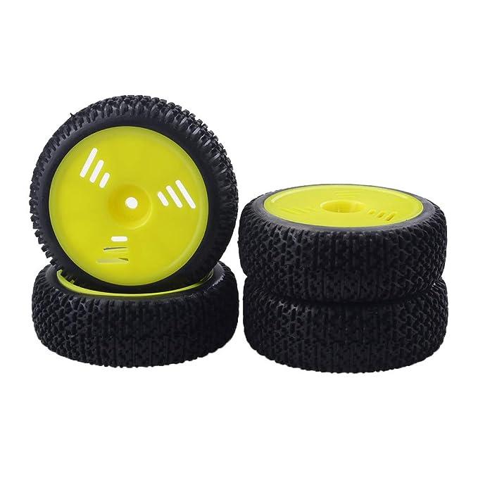 NON Sharplace 4 Piezas Llantas de Rueda Buje de 8mm y Neumáticos de Goma para 1/16 RC Buggy Truck Truggy: Amazon.es: Juguetes y juegos