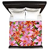 CafePress - Pink Plumeria Flowers - King Duvet Cover, Printed Comforter Cover, Unique Bedding, Microfiber