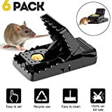 Mouse Trap Adzpow Mouse Traps That Work Rats/Mice Trap Snap Humane Rodent Killer Mouse Catcher Quick Effective Sanitary 6 Pack