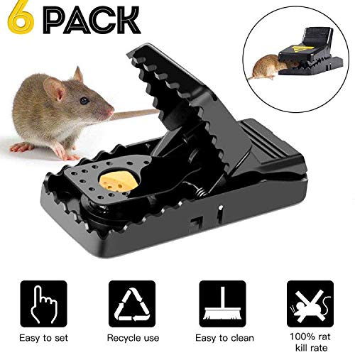 Mouse Trap Adzpow Mouse Traps That Work Rats/Mice Trap Snap Humane Rodent Killer Mouse Catcher Quick Effective Sanitary 6 Pack by Adzpow