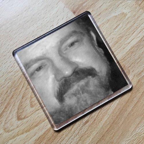 Seasons JIM BEAVER - Original Art Coaster #js003