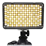 Mcoplus 168 Bi-Color LED Dimmable Digital Camera / Camcorder Video Panel LED Light for Canon Nikon Pentax Panasonic SONY Samsung Olympus DSLR Cameras DV Studio Photography