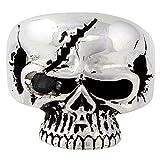 Scarface Bandit Skull Black Cubic Zirconia One Eye