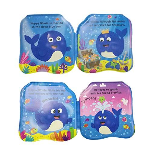 Molyveva Waterproof Baby Bath Books Educational Toys Children's Teaching Aids Environmentally Friendly Bathing Books Learning Stationery