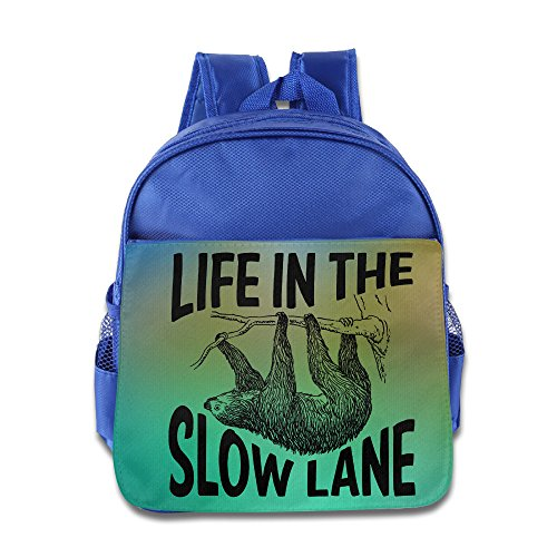 life-in-the-slow-lane-sloth-lovers-kids-school-royalblue-backpack-bag